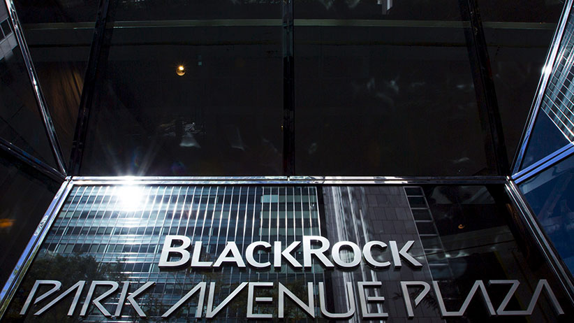 The BlackRock sign is pictured in the Manhattan borough of New York, in this October 11, 2015 file photo. Global asset manager BlackRock Inc is planning to cut about 400 jobs, or 3 percent of its workforce, as it redirects resources to growth areas, a person familiar with the matter said on March 30, 2016.  (Eduardo Munoz/Reuters)
