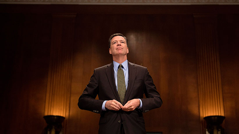 FBI Director James Comey prepares to testify before the Senate Judiciary Committee on Capitol Hill in Washington, DC, May 3, 2017. (Jim Watson/AFP/Getty Images)