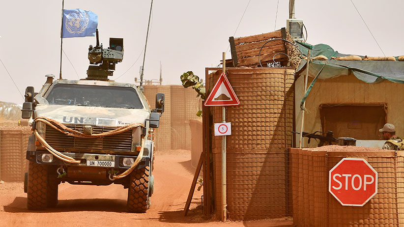 A Dingo tank of the Bundeswehr, the German armed forces, enters Camp Castor after returning from a trainings mission on March 6, 2017 in Gao, Mali U.N.-led MINUSMA (United Nations Multidimensional Integrated Stabilization Mission) troops are assisting the Malian government in its struggle against rebels that include a Tuareg movement (MNLA) and several Islamic armed groups, among them Al-Qaeda, in the north of Mali. Rebels have conducted a series of terror attacks to destabilize the current government in recent years. The Bundeswehr has committed helicopters and 750 soldiers to the MINUSMA mission as well as 147 soldiers to the EUTM mission (European Trainings Mission Mali) to train government troops. In mid-April the Bundeswehr is to deploy four «Tiger«combat helicopter. (Alexander Koerner/Getty Images)