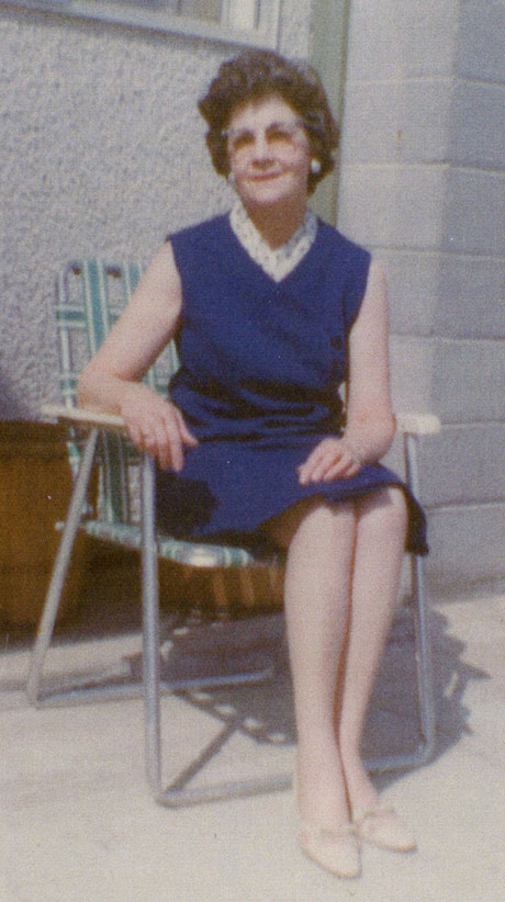 Ellen 'Dolly' Gibb in 1969 at Eleanor & Terry's house in Ashcroft BC. (Brittany Duggan)