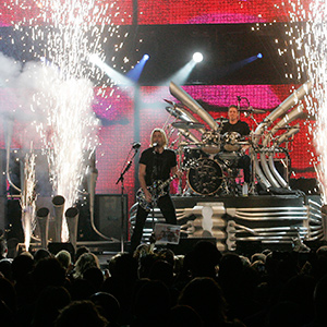 The band Nickelback performs during the Juno Awards in Vancouver, British Columbia March 29, 2009. (Richard Lam/REUTERS)