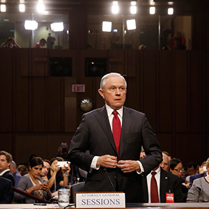 U.S. Attorney General Jeff Sessions testifies before a Senate Intelligence Committee hearing on Capitol Hill in Washington, U.S., June 13, 2017. (Jonathan Ernst/REUTERS)