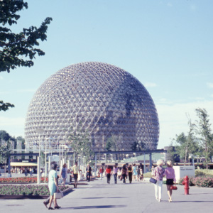 Pavilion of the U.S at the Expo 1967 in Montreal. (Leber/Ullstein Bild/Getty Images)