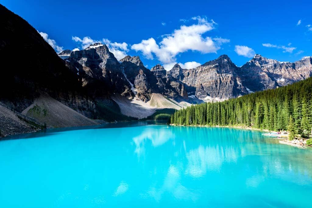 Moraine lake in Banff National Park, Alberta, Canada. (Shutterstock)