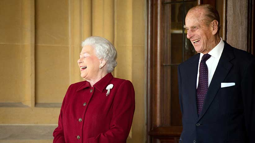 Queen Elizabeth and Prince Philip at Windsor Castle in 2014. (Leon Neal/Pool/REUTERS)