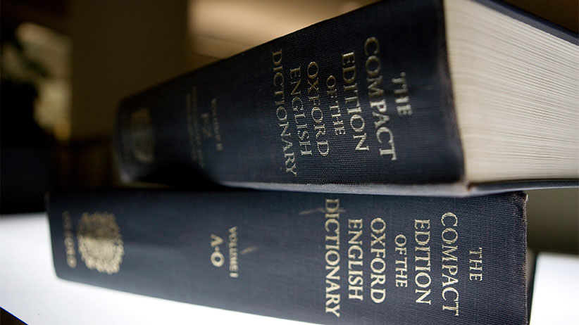 An Oxford English Dictionary is shown at the headquarters of the Associated Press in New York on Sunday, Aug. 29, 2010. (Caleb Jones/AP/CP)
