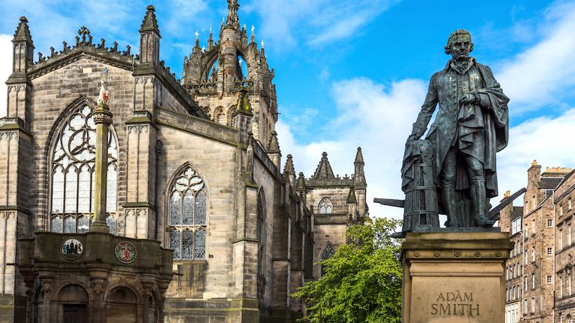 A monument of Adam Smith in Edinburgh, Scotland (iPhoto)