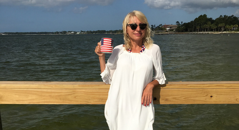 Olena Hofstetter in Pensacola, Florida on July 4, 2016. (no credit)