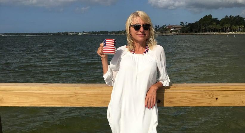 Olena Hofstetter in Pensacola, Florida on July 4, 2016. (no credit)