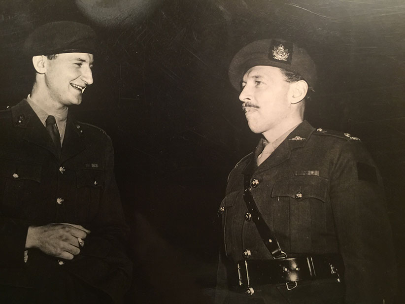 My father Lt. Colonel Raymond Wilfrid Boyden, D.S.O., CD, MD (on the right with mustache) shortly after World War II when he was put in charge of the military hospital in Hamilton, ON. (Joseph Boyden)