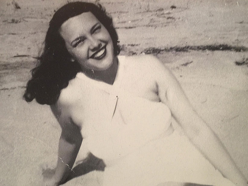 My mother, Blanche Boyden, on her honeymoon on the shores of Nottawasaga Bay, Georgian Bay, ON. (Joseph Boyden)