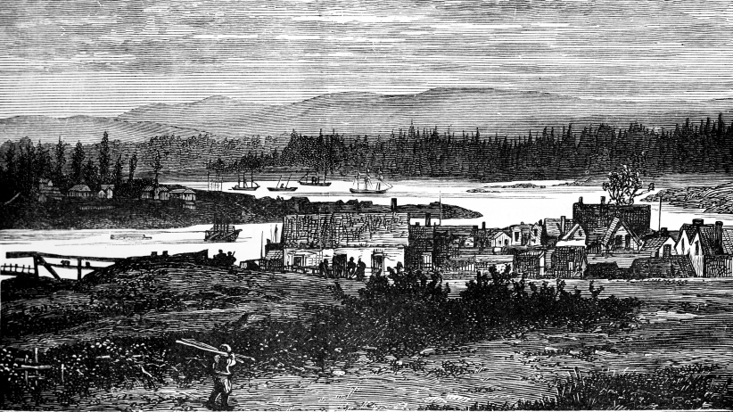 The Western Suburbs of Victoria, Vancouver Island, Canada, c1888. Illustration from The Life and Times of Queen Victoria Vol II, by Robert Wilson, (c1888). (The Print Collector/Getty Images)