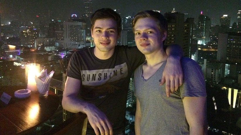 Alex and Tim Vavilov in Bangkok in 2011. (Tim and Alex Vavilov)
