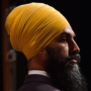 Jagmeet Singh listens during the final federal NDP leadership debate in Vancouver, B.C., on Sunday September 10, 2017. Online voting begins September 18 with results announcement events being held after each round of balloting until a new leader is elected. The first announcement will take place on October 1 and if no candidate receives a majority an additional two rounds could follow. THE CANADIAN PRESS/Darryl Dyck