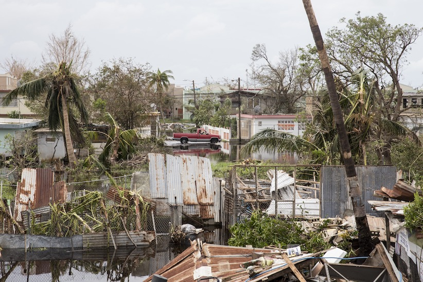 LOIZA, PUERTO RICO - SEPTEMBER 22: Destruction is seen days after Hurricane Maria made landfall, on September 22, 2017 in Loiza, Puerto Rico. Many on the island have lost power, running water, and cell phone service after Hurricane Maria, a category 4 hurricane, passed through. (Photo by Alex Wroblewski/Getty Images)
