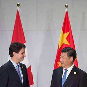 Justin Trudeau and Xi Jinping