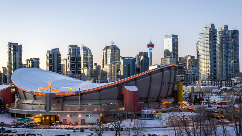 Calgary Scotiabank Saddledome. (Darko Photography/Shutterstock)
