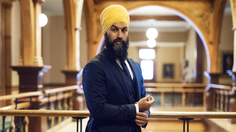 New federal NDP leader Jagmeet Singh at Queen's Park in June 2017