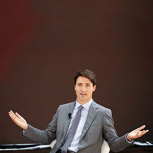 Canada's Prime Minister Justin Trudeau speaks at the Bill and Melinda Gates Foundation Goalkeepers event in Manhattan, New York, U.S., September 20, 2017. (Elizabeth Shafiroff/Reuters)
