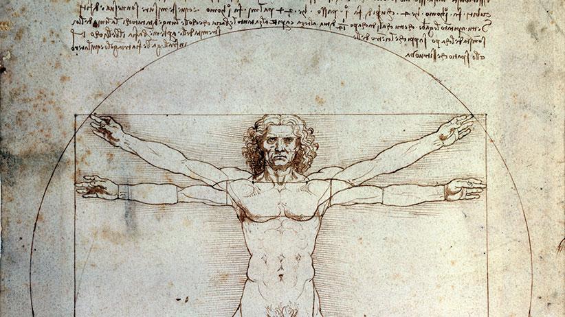 Vitruvian Man, 1490, by Leonardo da Vinci (1452-1519), pencil and ink on paper, 34x24cm. (DeAgostini/Getty Images)
