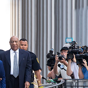 Actor Bill Cosby is seen leaving Montgomery County Courthouse after a pre-trial hearing to discuss Cosby's new legal team on August 22, 2017 in Norristown, Pennsylvania.  (Gilbert Carrasquillo/Getty Images)