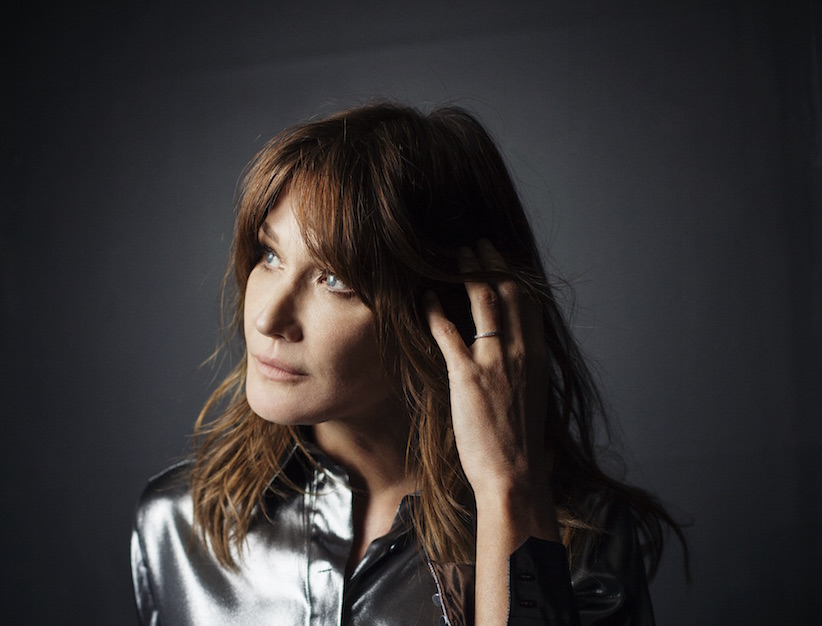 Carla Bruni is photographed in Paris on April 13, 2017. (Mathieu Zazzo/Universal Music)