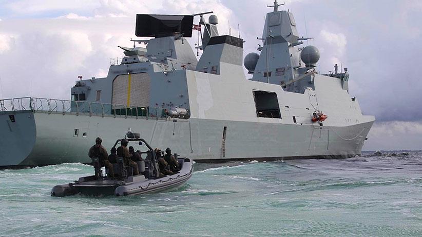An Iver Huitfeldt-class frigate.