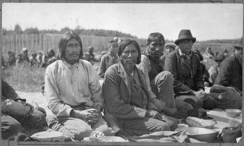 Treaty 9 Indigenous Men At Fort Hope In Ontario 1905