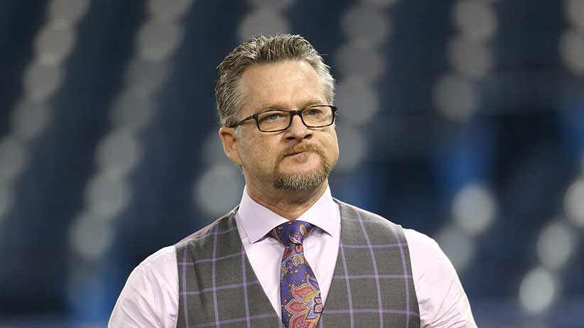 TORONTO, CANADA - APRIL 14: Former player and current television analyst Gregg Zaun during batting practice before the start of the Toronto Blue Jays MLB game against the Tampa Bay Rays on April 14, 2015 at Rogers Centre in Toronto, Ontario, Canada. (Photo by Tom Szczerbowski/Getty Images)