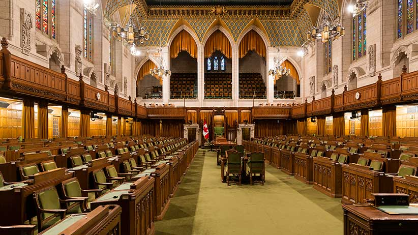 Ottawa, Ontario, Canada, January 3, 2016. -- The House of Commons of Canada is a component of the Parliament of Canada and is a democratically elected body whose members are known as Members of Parliament (MPs). There were 308 members in the last Parliament. (Photo by Thierry Tronnel/Corbis via Getty Images)