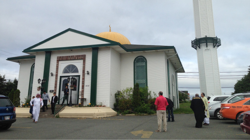 The mosque on Logy Bay Road in St. John's, Newfoundland. (Adam Walsh/CBC)
