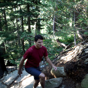 university advice: Justin Trudeau was in North Vancouver hiking the Grouse Grind trail.