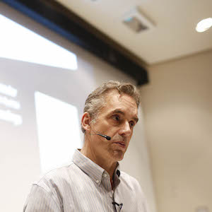 "TORONTO, ON - January 10, 2017. Jordan Peterson during his lecture at UofT. Peterson is the professor at the centre of a media storm because of his public declaration that he will not use pronouns, such as ""they,"" to recognize non-binary genders . This lecture had no reference to the hot topic.        (Rene Johnston/Toronto Star via Getty Images)"