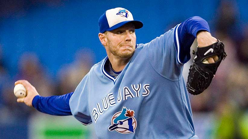 Toronto Blue Jays starting pitcher Roy Halladay throws against the Seattle Mariners during first inning AL baseball game action in Toronto September 25, 2009. Former Toronto Blue Jays star pitcher Roy Halladay has died after his plane crashed in the Gulf of Mexico. He was 40. THE CANADIAN PRESS/Fred Thornhill