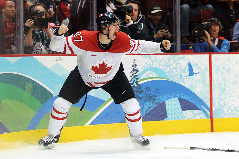Sidney Crosby  Of Canada Celebrates After Scoring The Matchwinning Goal In Overtime During The
