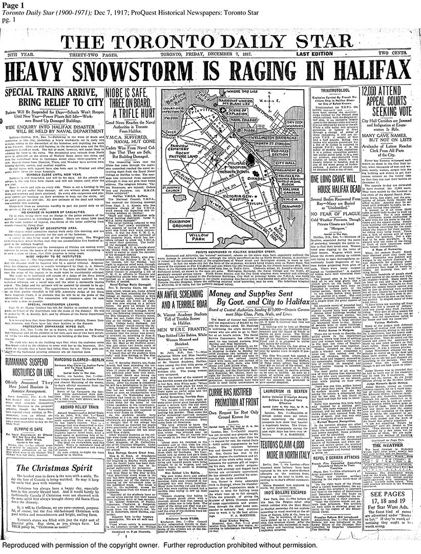 The Halifax explosion: How newspapers covered the tragedy in