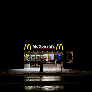Shelter in the shadow of the golden arches