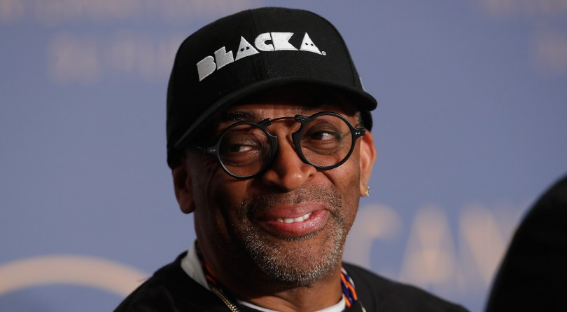 1822006c Spike Lee speaks at the press conference for 'BlacKkKlansman' during the  71st annual Cannes Film Festival at Palais des Festivals on May 15, 2018 in  Cannes, ...