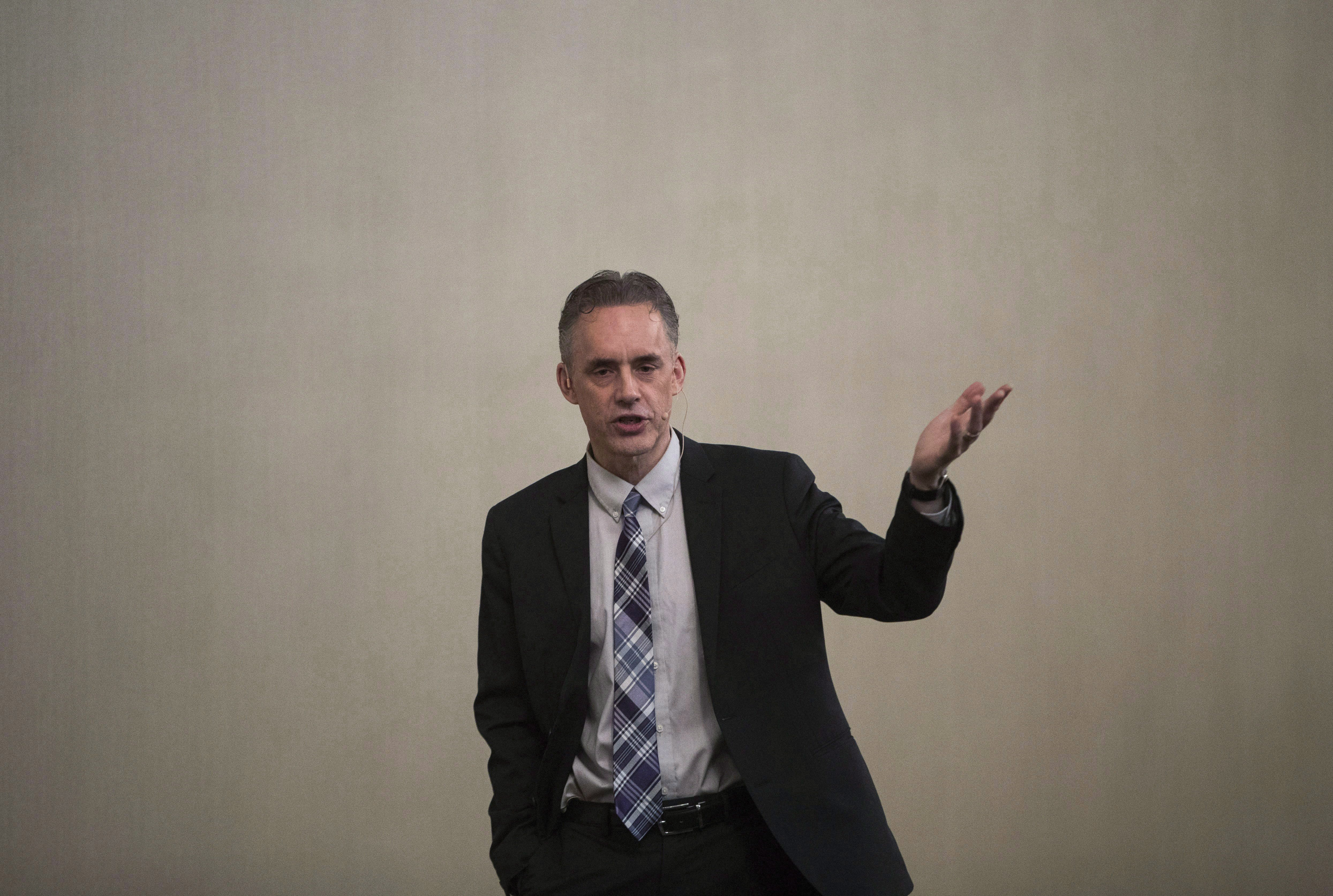 The context of Jordan Peterson's thoughts on 'enforced