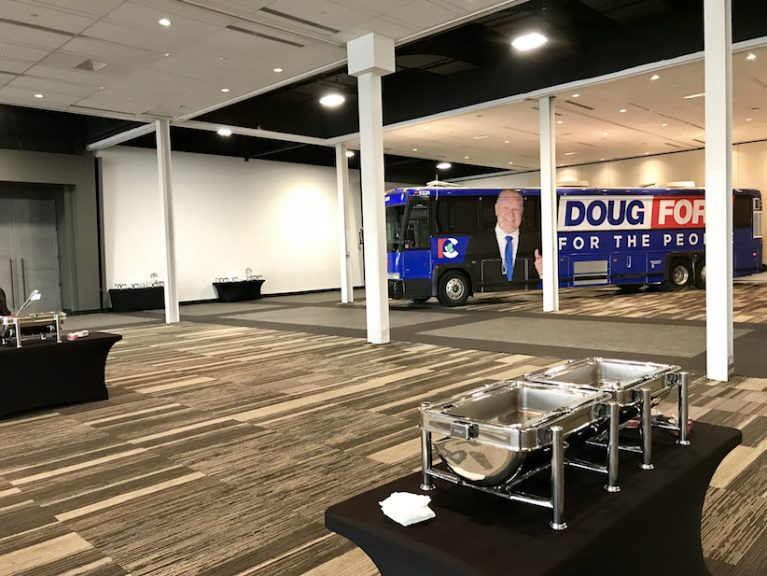 Doug Ford's Campaign HQ Thursday