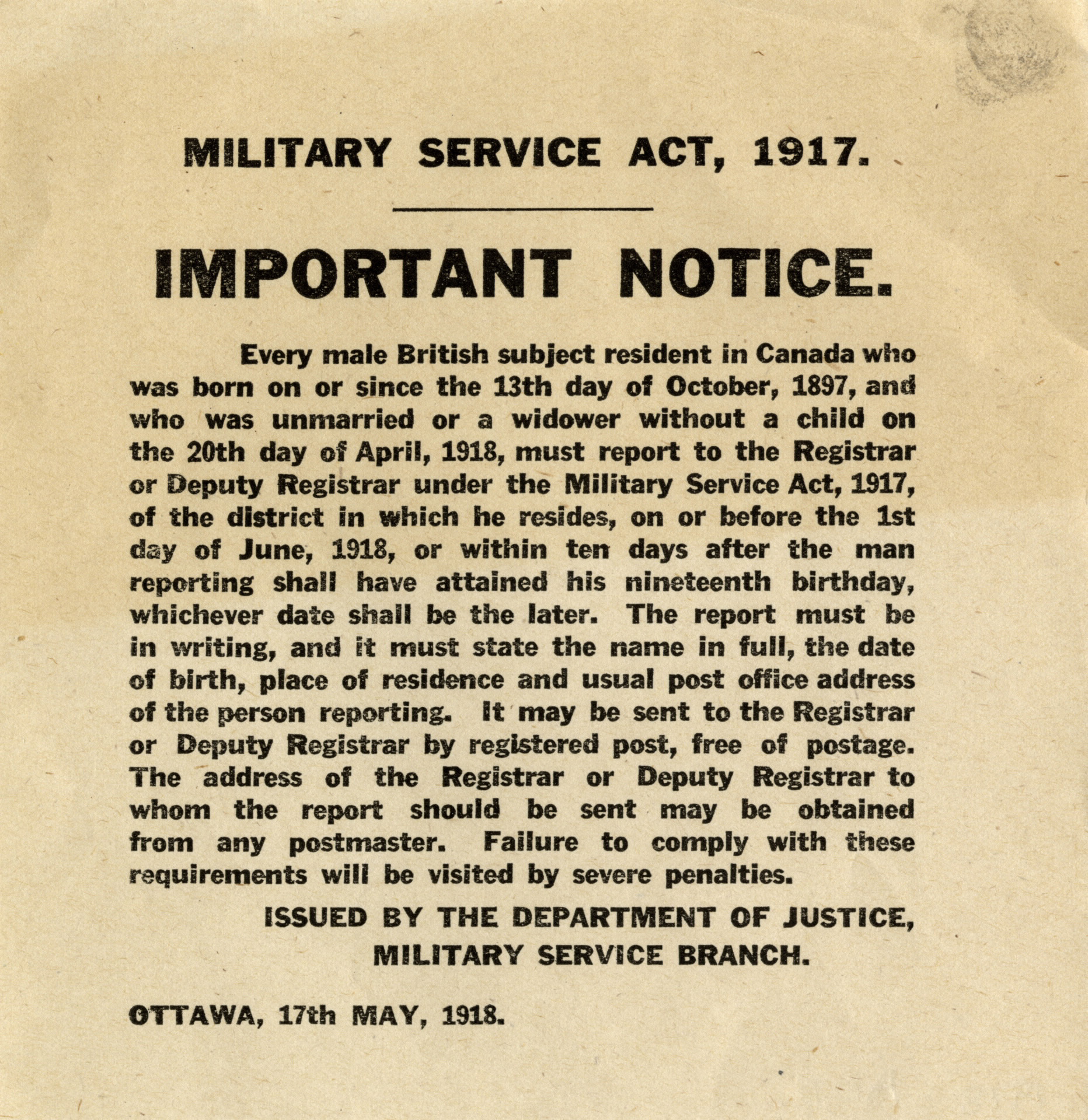 Conscription divided Canada  It also helped win the First