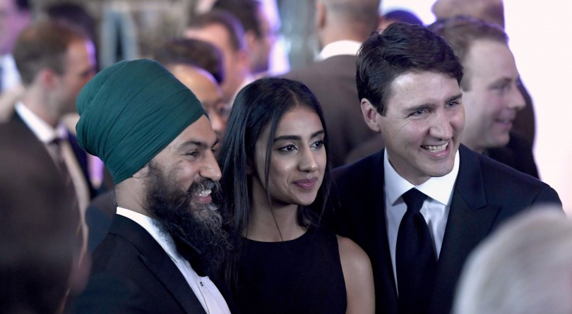 Image result for jagmeet singh and trudeau