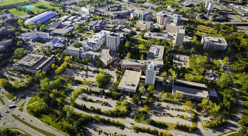 University of Calgary campus as seen from above