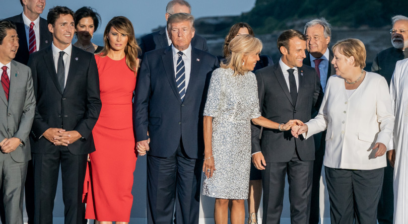 The G7 group shot, where Donald Trump can't hide from his height - Macleans.ca