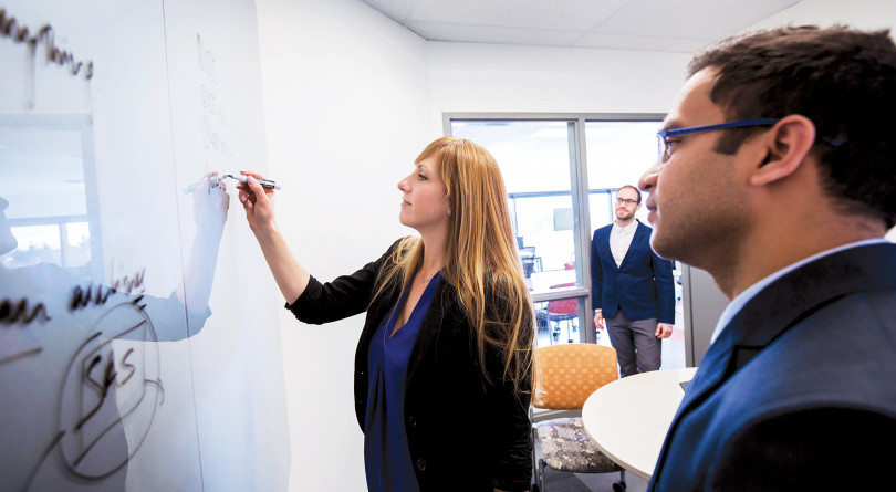 Haskayne School of Business MBA students. (Ewan Nicholson/University of Calgary)