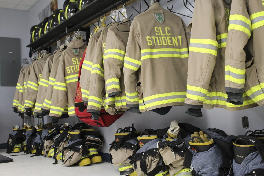 St. Lawrence College firefighting suits