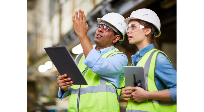 A man and woman in the skilled trades