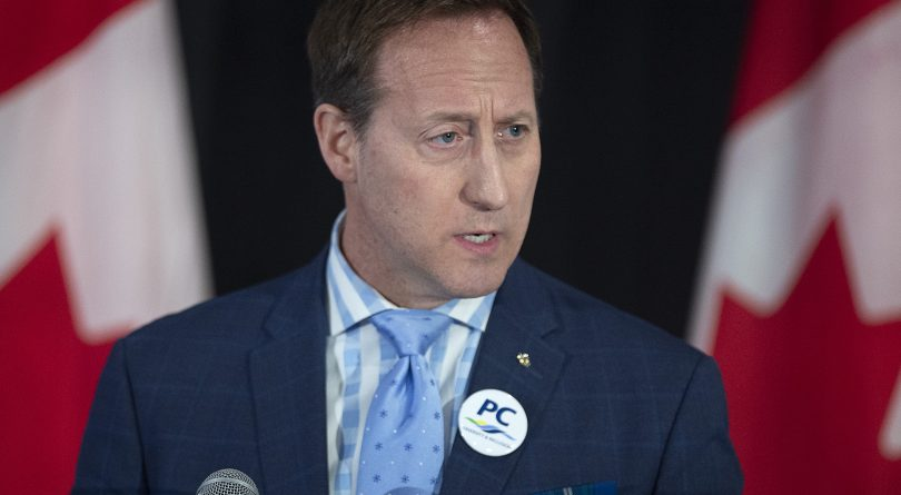 Peter MacKay addresses the crowd at a federal Conservative leadership forum during the annual general meeting of the Nova Scotia Progressive Conservative party in Halifax on Feb. 8, 2020. The 2020 Conservative Party of Canada leadership election will be held on June 27, 2020.