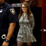 Anna Sorokin returns from a recess during her trial at New York State Supreme Court, in New York, Monday, April 22, 2019. Sorokin, who claimed to be a German heiress, is on trial on grand larceny and theft of services charges. (Richard Drew/CP)