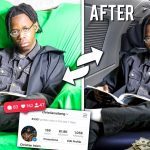 YouTuber ChristianAdamG posting a before and after of how he faked wealth on his social channel (ChristianAdamG/YouTube)